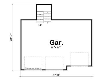 Garage loft plans detached 3 car garage loft plan design for Size of three car garage