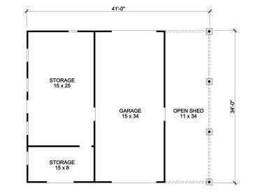 Drive thru garage plans rv garage with drive thru bay for Drive through garage plans