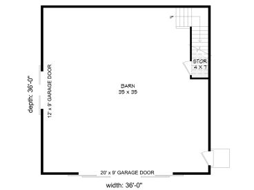 1st Floor Plan, 062B-0011