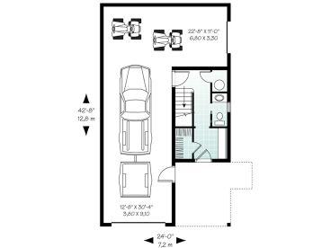 Garage apartment plans carriage house plan with tandem for 2 car tandem garage