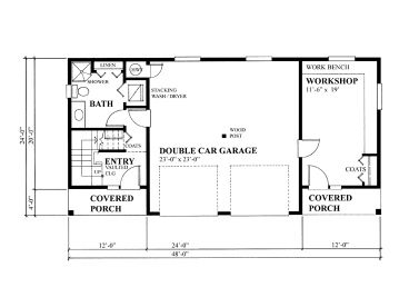 Garage workshop plans two car garage workshop plan with for Two car garage with workshop plans