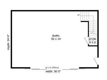 1st Floor Plan, 062B-0004