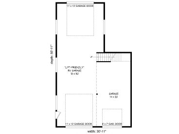 1st Floor Plan, 062G-0121