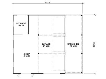Garage workshop plans 3 car garage workshop and outbuilding plan floor plan malvernweather Images