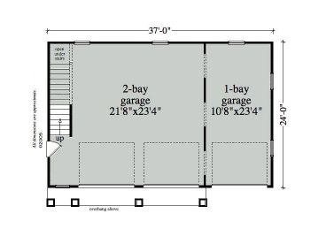 Garage Loft Plans 3 Car Garage Loft Plan Design 053g