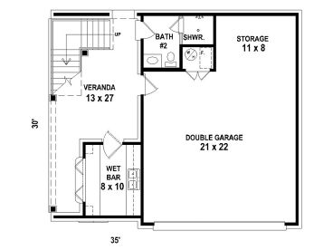 Garage apartment plans carriage house plan with double for Plans for shop with living quarters