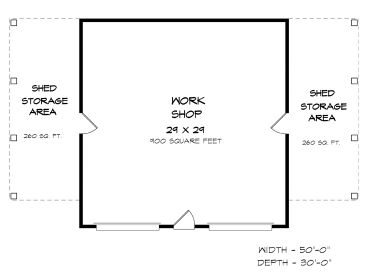 Garage Workshop Plan, 019G-0012