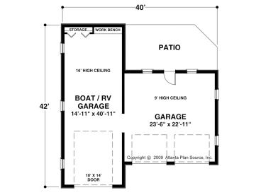 Rv garage plans rv garage plan with attached 2 car for Height of rv garage door