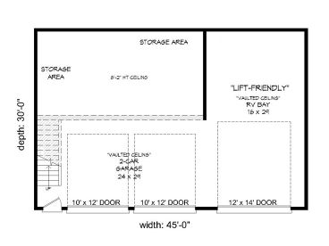 1st Floor Plan, 062G-0162