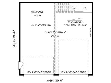 1st Floor Plan, 062G-0076