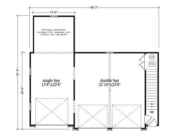 Garage Apartment Plans | 3-Car Garage Apartment Plan #053G ...