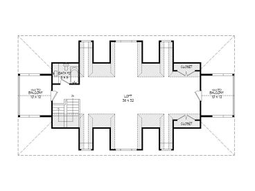 2nd Floor Plan, 062P-0003