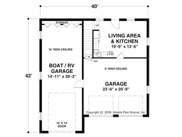 Rv and boat garage with living quarters joy studio for Rv garage floor plans