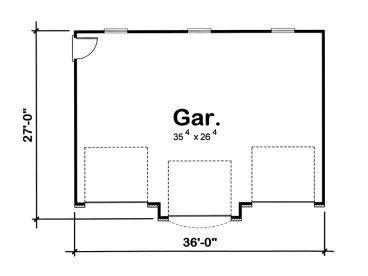 3 car garage plans traditional three car garage plan for Garage door in plan