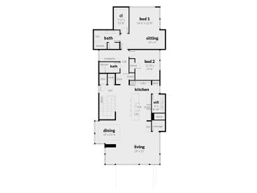2nd Floor Plan, 052G-0018