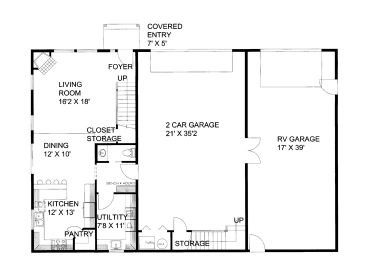 Plan 012g 0052 garage plans and garage blue prints from for Rv garage floor plans