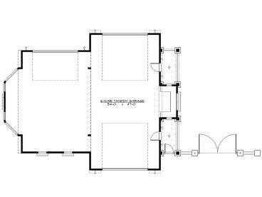 Rv garage plans rv garage plan with drive thru bay for Drive through garage plans