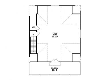 2nd Floor Plan, 006G-0155
