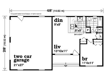 Garage apartment plans one story garage apartment plan for Single story garage apartment