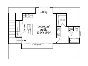 Garage Studio Apartment Plans garage apartment plans | 3-car garage & studio apartment #053g