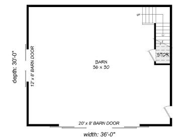 1st Floor Plan, 062B-0009