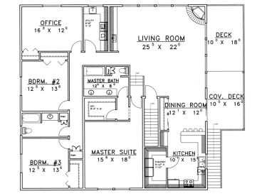 2nd Floor Plan, 012G-0098