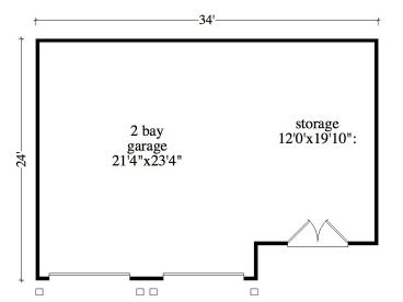 Garage storage plans two car garage plan with storage for Store floor plan maker