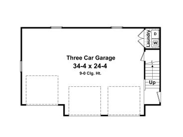 Carriage House Plans 3Car Garage Apartment Plan 001G0004 at