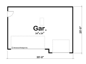 3 Car Garage Design 050G 0051 Floor Plan