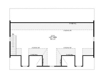 2nd Floor Plan, 062G-0051