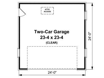 TwoCar Garage Plans 2Car Garage Plan 001G0001 at