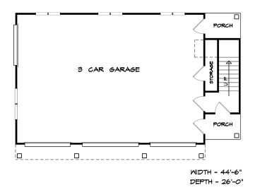 Garage plans with living quarters first floor home for Garage with living quarters one level