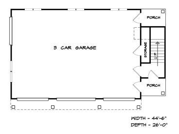 Garage apartment plans 3 car garage apartment plan with for Shop living quarters floor plans