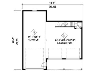 1st Floor Plan, 072G-0035