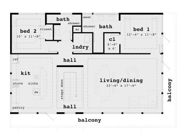 2nd Floor Plan, 052G-0016