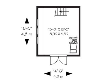 1st Floor Plan, 028S-0015