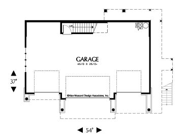 Carriage House Plans | Craftsman-Style Carriage House Plan with 4 ...