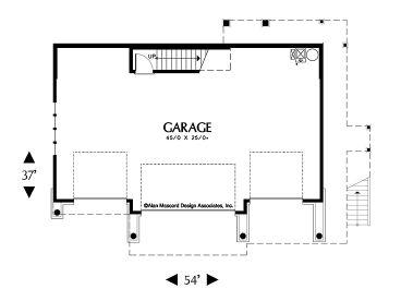 1st floor plan 034g 0011 - House Plans 4 Car Garage