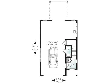 Garage apartment plans carriage house plan with 1 car garage 1st floor plan malvernweather Images