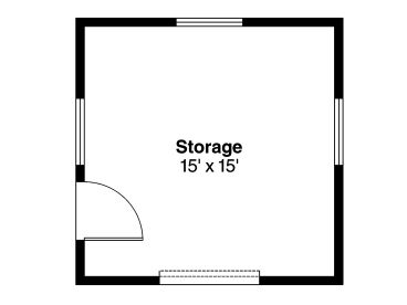 Shed Plans Backyard Storage Shed With Overhead Door Design - Storage building floor plans