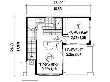 2nd Floor Plan, 072G-0034