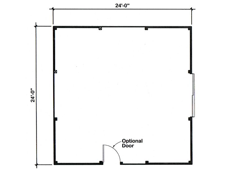 Outbuilding plans pole barn plan in multiple sizes for Pole barn dimensions