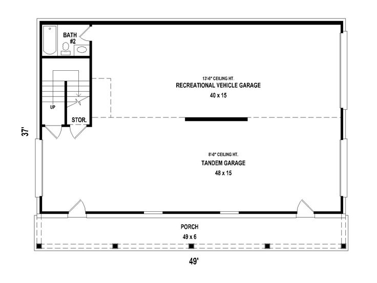Carriage house plans carriage house plan with rv garage for Rv garage floor plans
