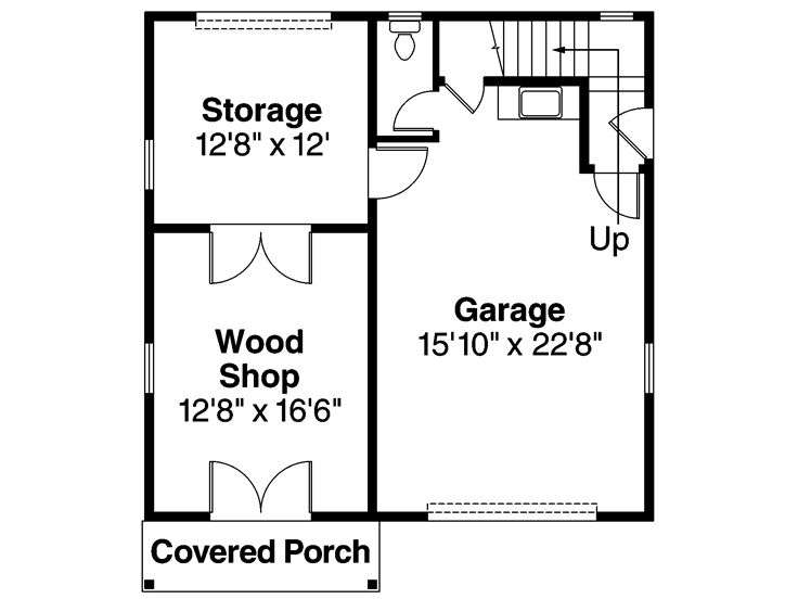 garage workshop plans one car garage workshop plan with