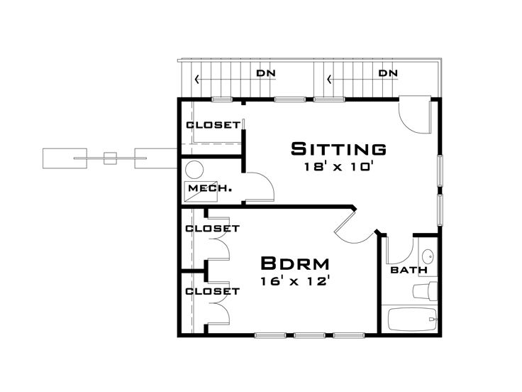 2nd Floor Plan, 052G-0002
