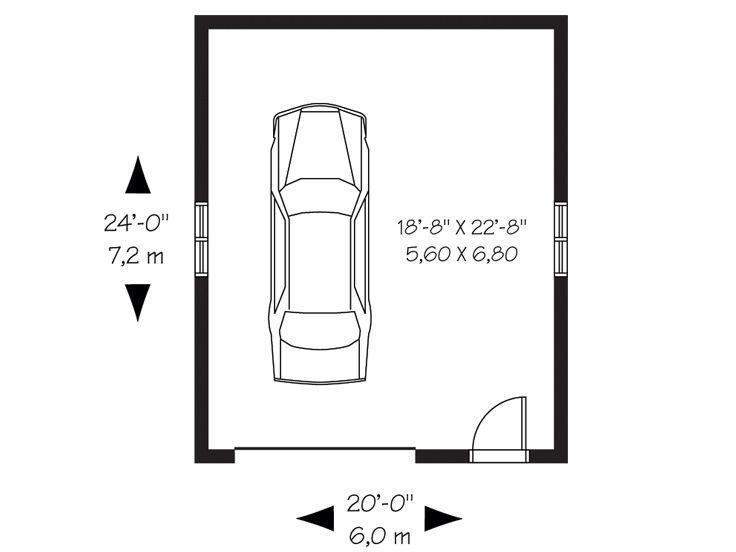 1Car Garage Plans – Basic Garage Plans