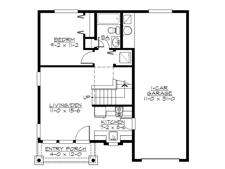 Garage apartment plans 2 bedroom garage apartment plan for Two bedroom garage apartment plans