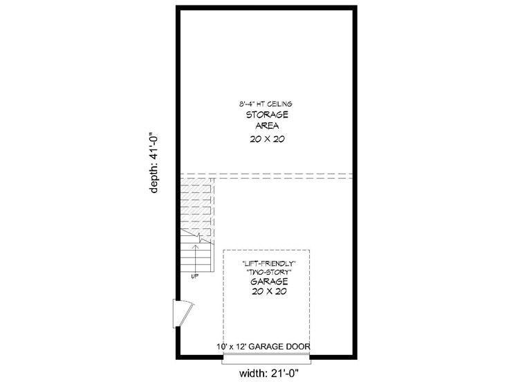 1st Floor Plan, 062G-0120