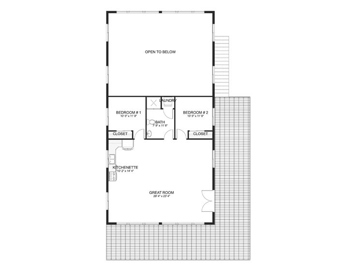 2nd Floor Plan, 065G-0023