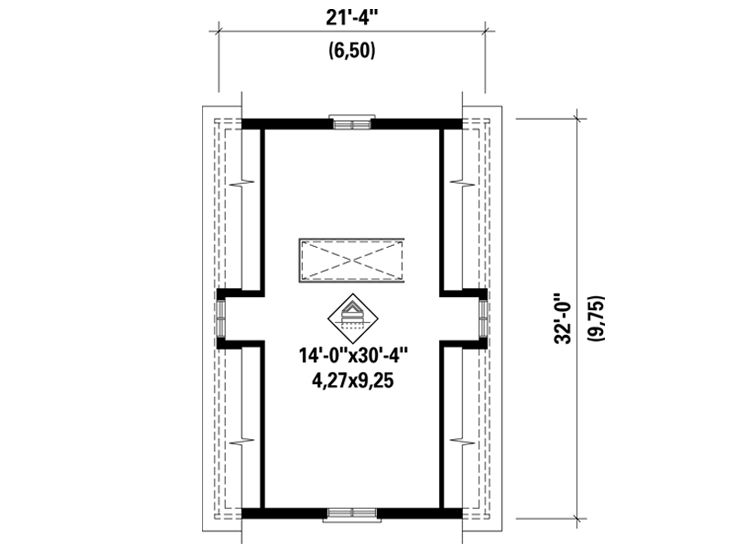 Garage plans with boat storage two car garage plan with for Garage plans with shop space